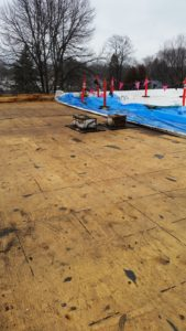 After picture of a flat roof replacement.